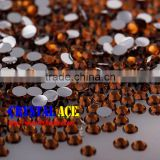 Beautiful Coffee color resin crystal bead flat back non hot-fix , mirror back resin diamante stones for fashion DIY