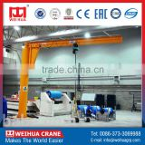 High-Duty 250kg floor mounted mini fixed jib crane