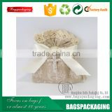 Fancy wedding favor lace drawstring bags