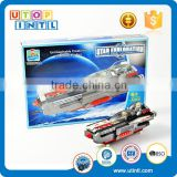 Wholesale kid toy magnetic DIY building block space ship connector toys
