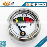 YL-23D-01 all stainless steel propane gas pressure gauge with bourdon tube