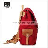 wholesale backpacks for teenage girls high quality fashion plain red backpack bag