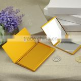Aluminum square makeup mirror and aluminum business card holder gift set packing /wedding gift sets