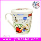 Hot new products for 2014 custom heat sensitive sublimation bone china ceramic cup shaped flower pot