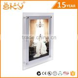 Custom made have stereo feeling crystal led light christmas picture frame for fraduation