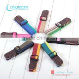 leather guitar&ukulele strap with cotton tape,high quality belt for wholesale,Rainbow Series