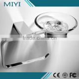 Hot selling China supplier Fashion metal free standing toilet paper holder with soap dish
