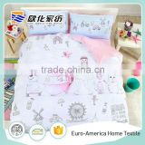 100% Cotton Soft Fabric Kids Bedspread, Cartoon Lovely Kids Bedding Set                                                                         Quality Choice