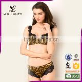 Leopard Underwire Push Up Nylon Undergarment Women