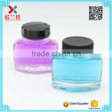 2016 Free sample 50ml refill glass Ink bottle with black plastic cap                                                                         Quality Choice