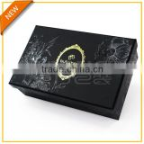 Elegant two piece box with gold stamping and UV spot