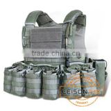 Ballistic Vest with Quick Release System Using 1000D Cordura or nylon Meets USA standard.