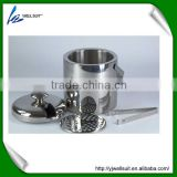 hot sale stainless steel ice tong and ice bucket set