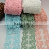 29yards wide12cm Embroidery Lace Cotton Lace in cream white Color Embroidered Net Lace Water Soluble Lace Trim Ribbon