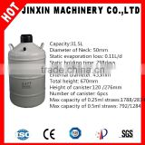 JX liquid nitrogen tank with 31.5liters capacity cryogenic small capacity liquid nitrogen dewar