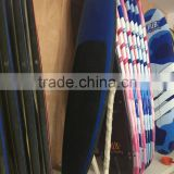 school training and teaching epoxy fiberglass with xpe and hdpe soft top foam sup paddle board from china