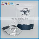 matte white or black Zip lock bag coffee/zipper bag stand up pouch with one way valve                                                                         Quality Choice