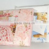 100% Cotton Bedding Set/Embroidered Bed Sheet/Fitted Sheet/Pillowcase Set