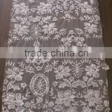 net tulle lace china manufaturer /embroidery lace fabric with beads and cords /bridal dress