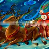 Waterproof Polyester inkjet cloth to led christmas canvas painting