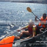 Supplying SUN LIFE 2 passengers clear plastic kayaks with 2 paddles,2 seats and 2 airbags.