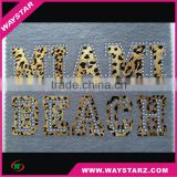 Wholesale Heat Transfer Vinyl Motif Laer-cut PVC Vinyl Film Heat Transfer with Rhinestone for Garment