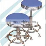 stainless steel rolling leather bar stool