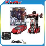 2.4G 4CH Radio Control Car Remote Control Trans Robot Toy Car