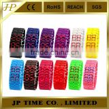 Digital led watch plastic iron samurai led watch red blue light led watch parts digits watches