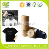 Biodegradable cardboard t-shirt tube packaging                                                                         Quality Choice