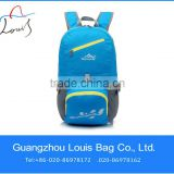 promotional folding travel backpacks bag,casual sports folding backpack,waterproof foldable leisure backpack