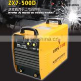 High efficiency Inverter IGBT three phase arc welding machine manual welding machinery ZX7-500D