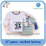 Manufacture owns BUREAU VERITAS CERTIFICATION single jersy tshirt for baby with embroider t-shirt with crewneck printed t shirt