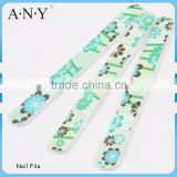 Nail Art Cure Emery Sand Green Flower Cute Nail Files 100/180