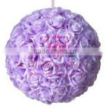 artificial flower ball plastic round flower balls flower kissing ball for wedding decorating