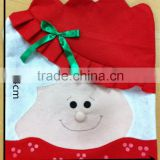 Oem snowman santa christmas 2015 wholesale cheap seat chair back cover home use cotton chair cover