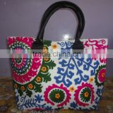 RTHHB-2 Suzani hand embroidery shoulder bags /tote bag/college bag