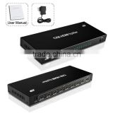 8 Port HDMI Splitter 1x8 1 In To 8 Way 3d HDMI Splitter one Iput To Eight Output Display Audio Video Splitter