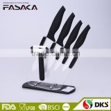 KC1310 for home use zirconia blade rubberized ABS handle 6PCS kitchen ceramic knife with acrylic block