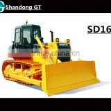 Pilot Hydraulic Blade Control 160HP 17Ton Medium Crawler Shantui Bulldozer Model SD16 With U Blade