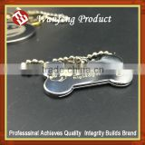 Promotional Antique Silver bone shape souvenir dog tag ID bulk tag factory supply directly