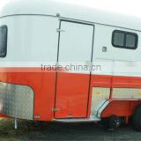2 horse angle load deluxe transport fiberglass trailer