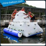 Beach inflatable iceberg climbing wall/ inflatable floating iceberg 0.9mm pvc tarpaulin