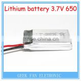 Wholesale 650mAh high rate X5C Upgrade the battery 852540 3.7V Li-Po battery For RC Airplane