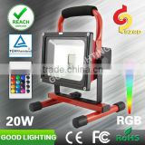goodlighting 20w IP65 waterproof modern bedroom sets RGB work lamp with IR control