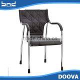 New design luxury leather dining chair with iron legs cheap office chair