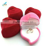 European traditional heart flower ring jewelry bags High-grade propose necessary jewelry box