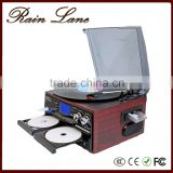 Rain Lane New turntable double cd record cassette radio wholesale record vinyl turntables player