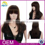 High density monofilament wig synthetic asian women hair wig