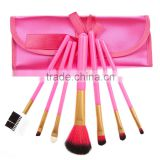7Pcs Makeup Brushes Cosmetic Make up Brush Set Rose Red Fitted Folding Case Makeup Brushes Kit